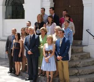 Manuel Toro, con los demás concejales de la nueva corporación.