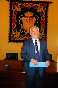 Manuel Toro Rincón (PP), tras ser elegido alcalde de Ubrique