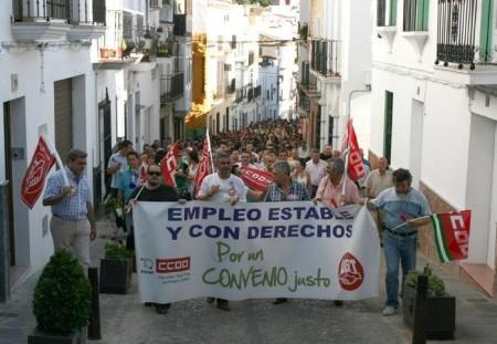Manifestación del 14 de junio de 2011 por la calle Real