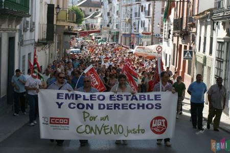 La manifestación del 16 de junio de 2011, por la calle Moreno de Mora