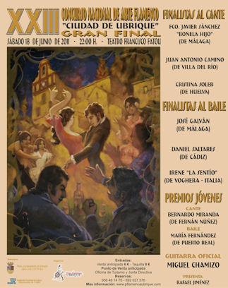 Cartel de la final del XXIII concurso nacional de arte flamenco