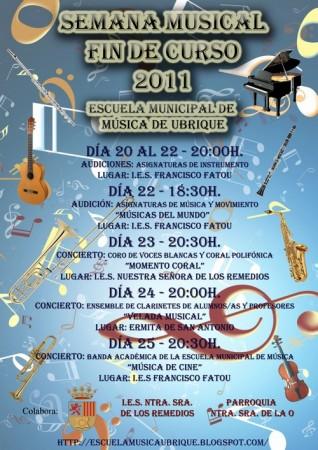 Semana Musical Fin de Curso Escuela Municipal de Música