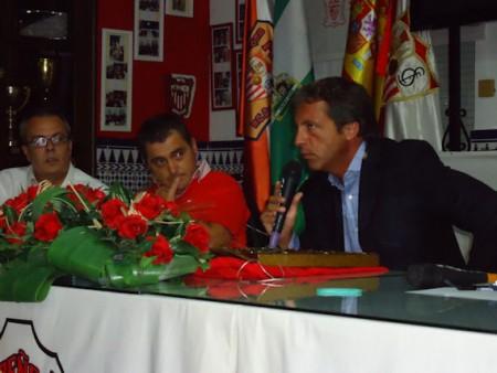 Cristóbal Soria, junto con Francisco Pérez León y Jesus Reina