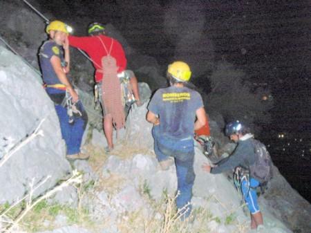 Rescate en Peñón Grande por bomberos del parque de Ubrique