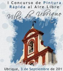 Cartel del I Concurso de Pintura Rápida al Aire Libre Villa de Ubrique