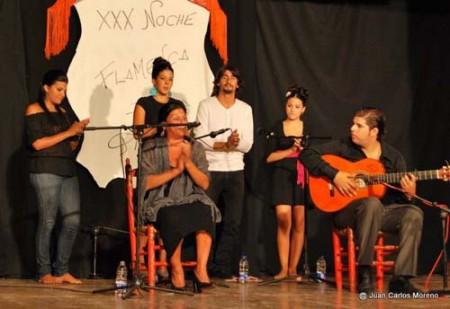 Participantes en la XXX Noche Flamenca de la Piel (Foto: Peña Flamenca de Ubrique).
