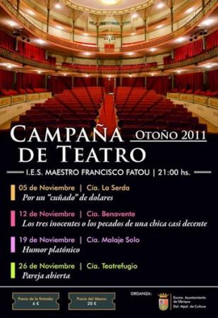 Cartel de la Campaña de Teatro de Otoño de 2011.