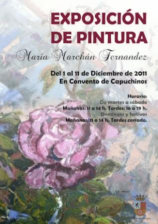 Cartel de la exposición de María Marchán.