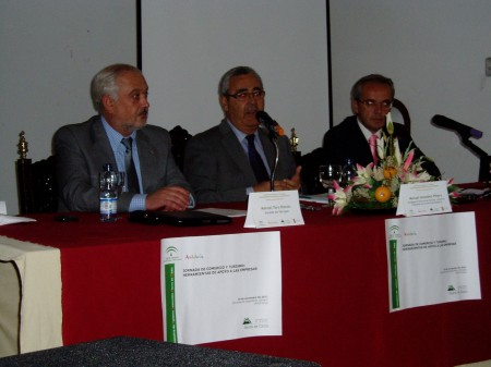 Manuel Toro, Manuel González y Alfonso Moscoso (Foto: Paco Solano).