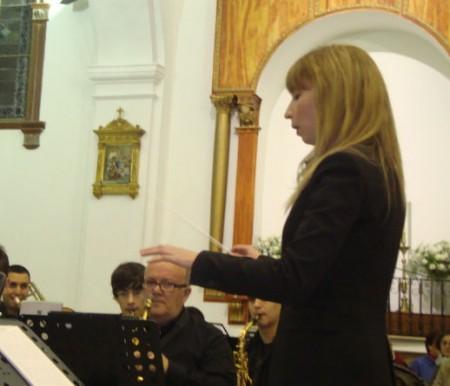 María del Mar Pérez, directora de la Orquesta.