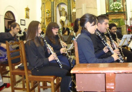 Algunos integrantes de la Orquesta.