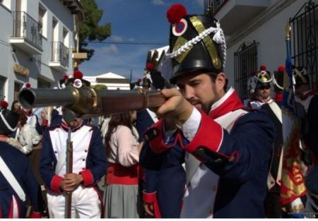 Recreación histórica de la Guerra de la Independencia en El Bosque en 2011 (www.fotojuande.es).
