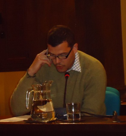 David Sierra, durante la lectura de su relato.