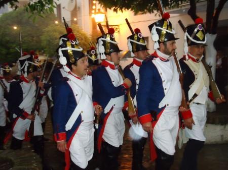 Recreación histórica de un ataque francés a Ubrique, el 5 de mayo de 2012 (Foto: Mercedes Gómez Angulo).