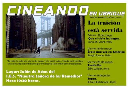 Cartel del V ciclo 'Cineando en Ubrique'.