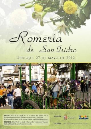 Cartel anunciador de la Romería de San Isidro de Ubrique.