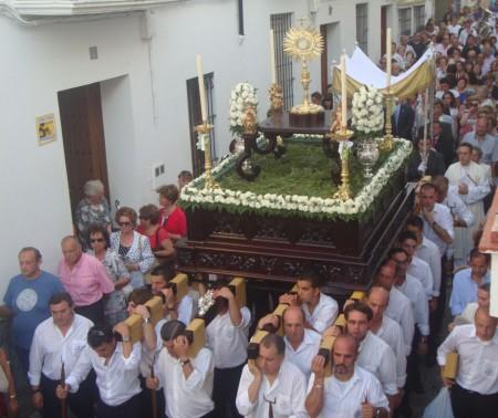Procesión del Corpus Christi, por el casco antiguo.
