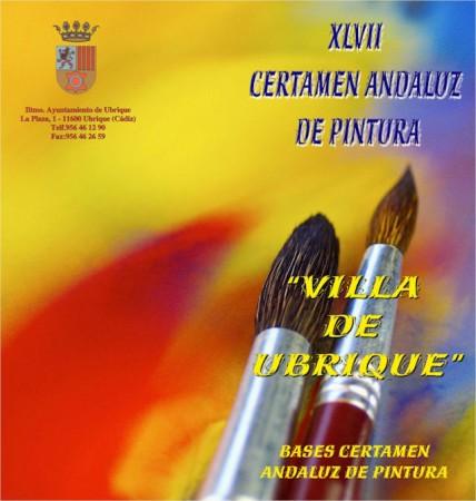 Cartel del XLVII Certamen Andaluz de Pintura 'Villa de Ubrique'.