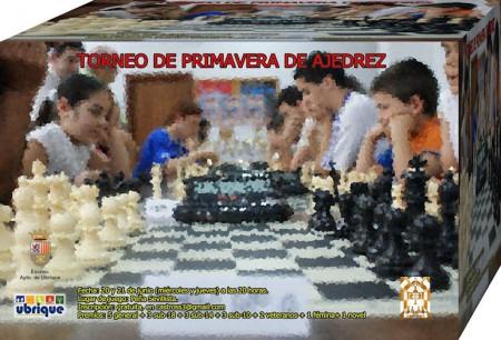 Cartel del Torneo de Primavera de Ajedrez.