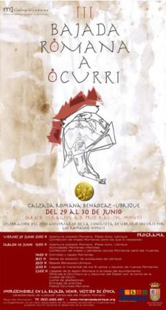 Cartel de la III Bajada romana.