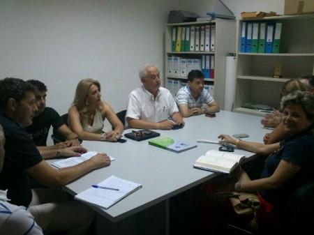 Reunión celebrada en la sede de laAsociación de Comerciantes.