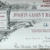 Encabezamiento de la carta de Joaquín Gassin y Marín de 11 de septiembre de 1918. Archivo Municipal de Ubrique.