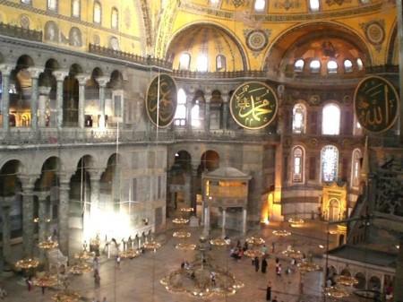 Hagia Sophia interior.