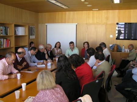 El alcalde de Ubrique, Manuel Toro, con otros alcaldes y el delegado territorial, Manuel Cárdenas.