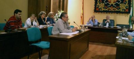 José García Solano, portavoz de IU, en el pleno del 16 de octubre de 2012.
