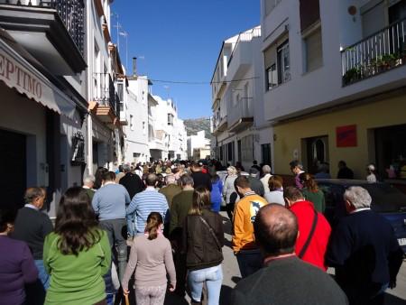 La manifestación, por el Paseo del Prado.