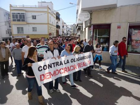 Nutrida manifestación con motivo de la huelga general del 14 de noviembre de 2012.