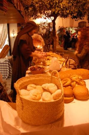 Puesto de venta de pan.