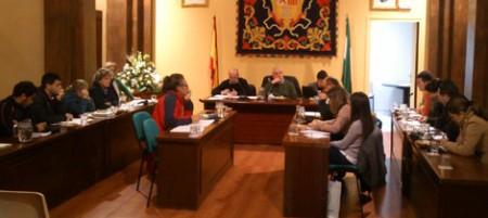 Pleno municipal del 28 de noviembre de 2012.
