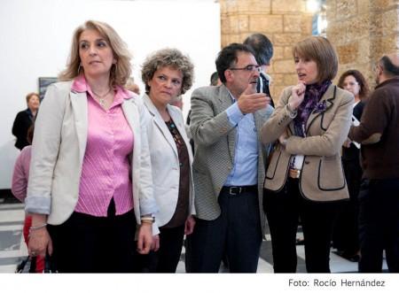 José Luis Mancilla con la diputada provincial Pilar Pintor y las ediles Josefina Herrera y Gloria Pérez.