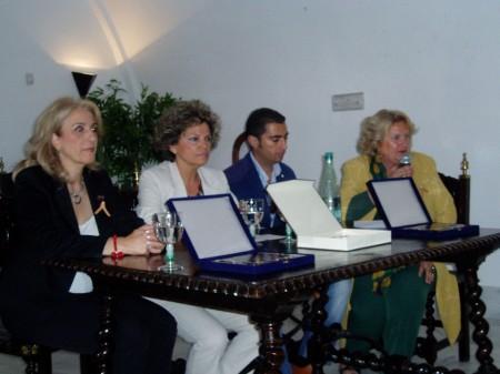 Maribel Lobato, del Museo de la Piel, en la presentación del acto.