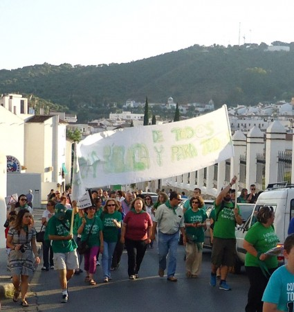 La protesta, a la altura del Convento.