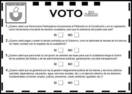 Papeleta de voto.