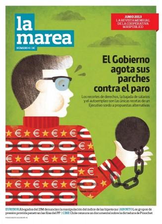 Portada del número 6 de 'La Marea', correspondiente al mes de junio de 2013