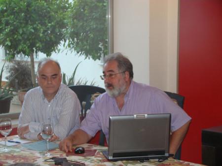 El historiador Fernando Sígler y el arqueólogo Luis Javier Guerrero (Foto: Jesús Román).