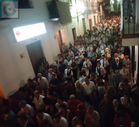 La Banda Municipal de Música, en la procesión.