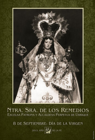 Cartel de los cultos a la Virgen.
