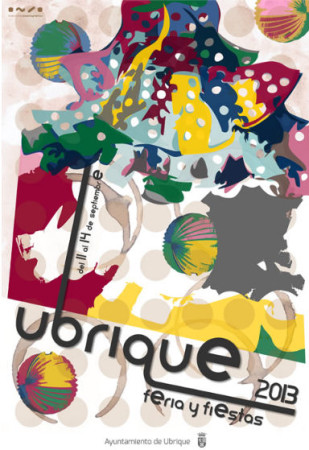 Cartel anunciador de la Feria, obra de Manuel Mancilla Montero.