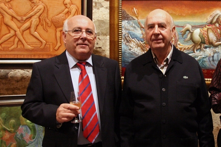 Teodoro Leo Menor y Luis Domínguez Rojas (Foto: Pintores de Ubrique).