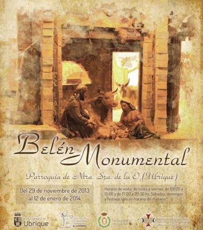 Cartel del Belén Monumental de la Parroquia.