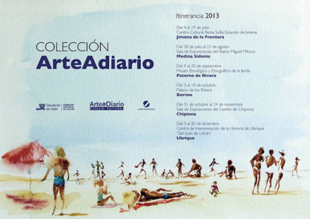 Cartel anunciador de la exposición itinerante.