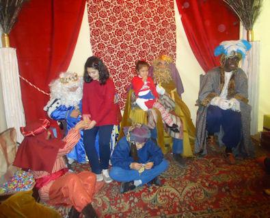 Trono de los Reyes Magos.