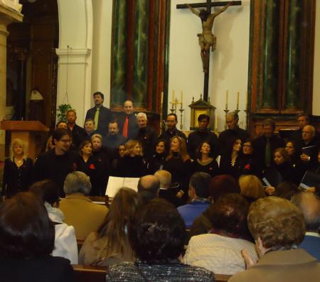 Participantes en el concierto celebrado en la parroquia de Ubrique y dirigido por Daniel Borrego.