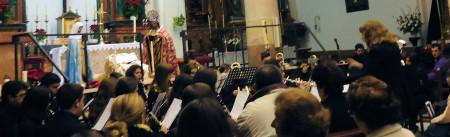 La Banda Académica, dirigida por María del Mar Pérez Rivera.