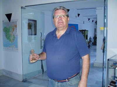 Domingo Puerto, en el Museo de la Piel.