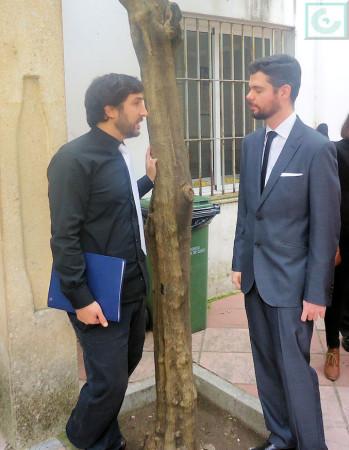 Los pianistas ubriqueños José García Fernández y Gregorio Benítez Suárez.